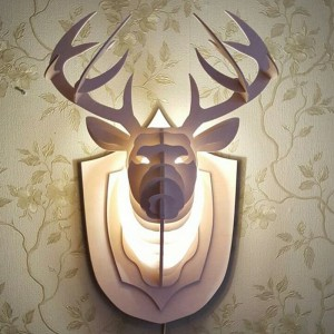 Đèn hươu treo tường trang trí nội thất