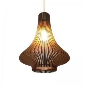 Đèn gỗ thả trần hình củ tỏi