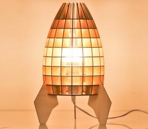 Đèn lồng gỗ để bàn nội thất cao cấp